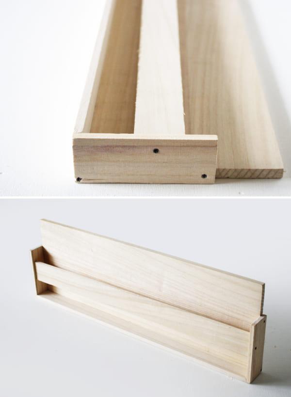 古道具風レターラックの作り方4