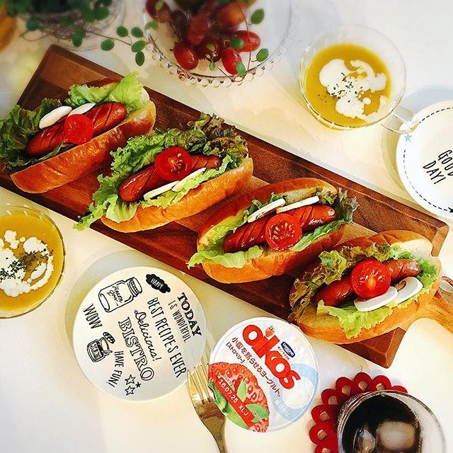 ソーセージ 人気 レシピ パスタ サンドイッチ6