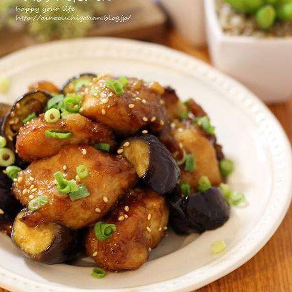 鶏唐となすの旨味中華炒め