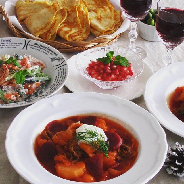 ボルシチ風のスープ
