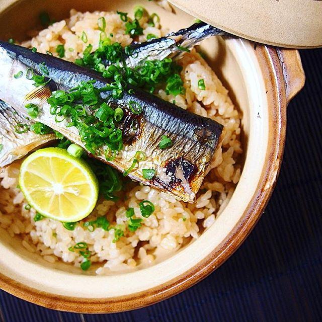 炊きたて!秋刀魚の土鍋ご飯