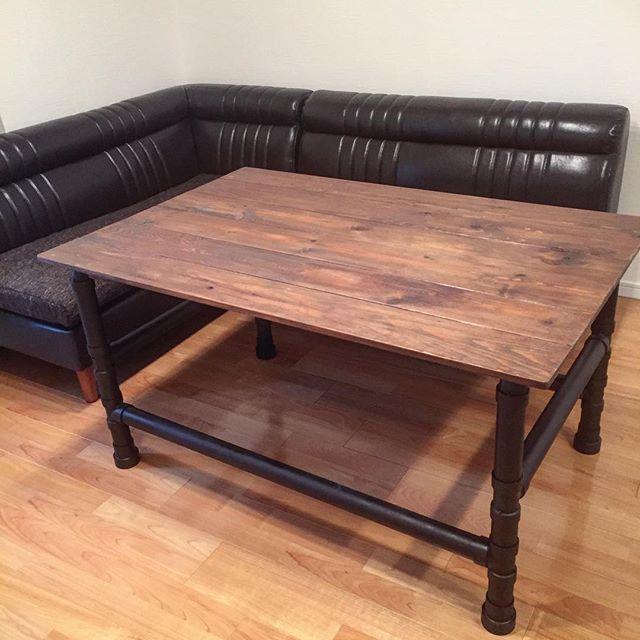 塩ビパイプ テーブル DIY2
