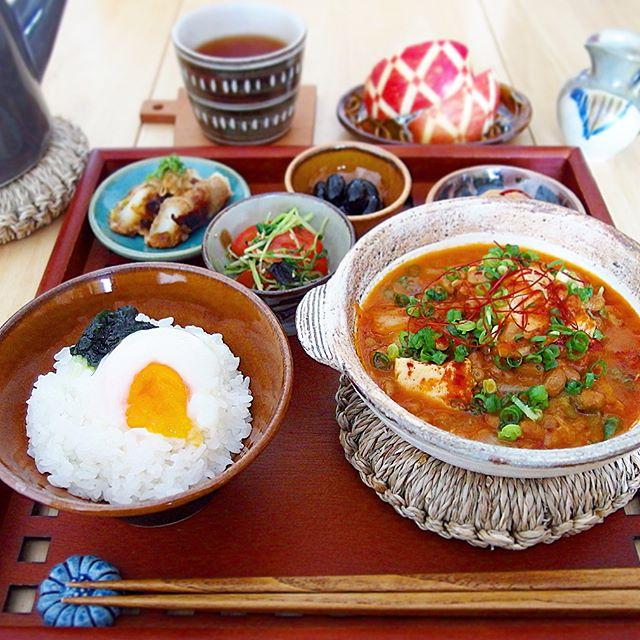 納豆キムチ麻婆豆腐