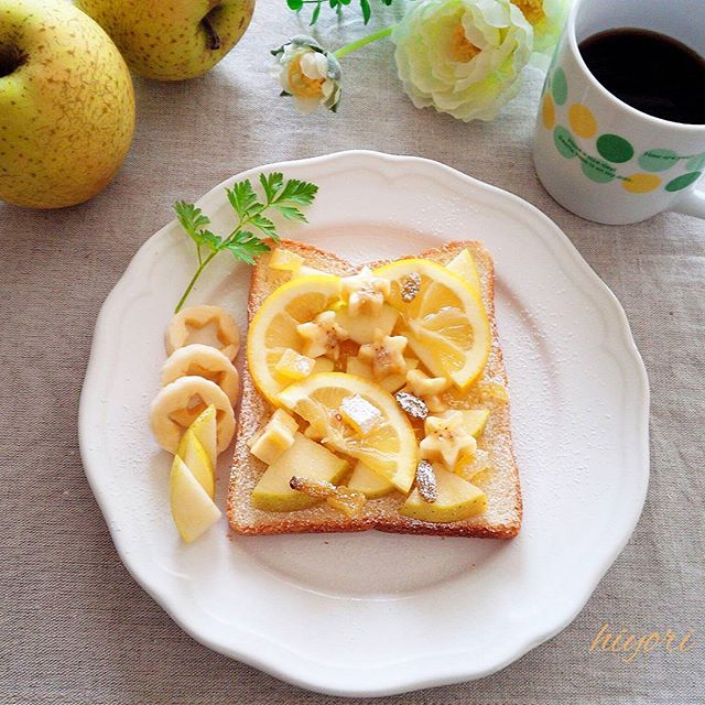 りんご トースト レシピ