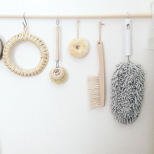 お掃除用具をかける収納