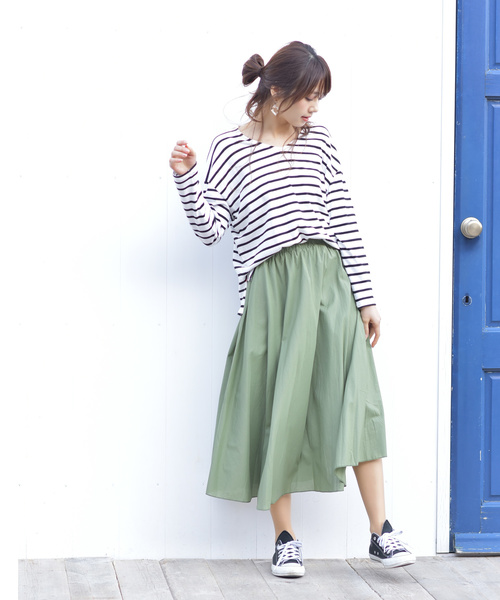 [rps] コットンロングフレアースカート