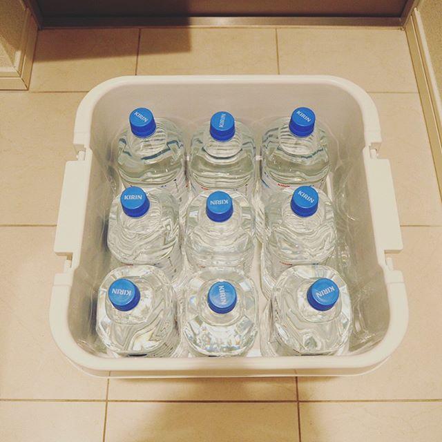 お水は絶対に確保しておきたい