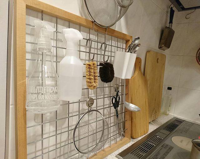 キッチンの吊るす収納2