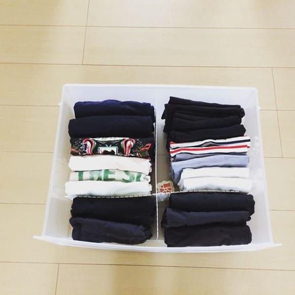 ①タンス用の仕切りを使った洋服収納2