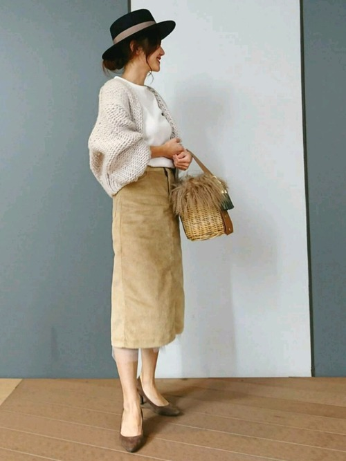 3[STYLE BAR] 【STYLEBAR】コーデュロイヘムチュールドレッシースカート