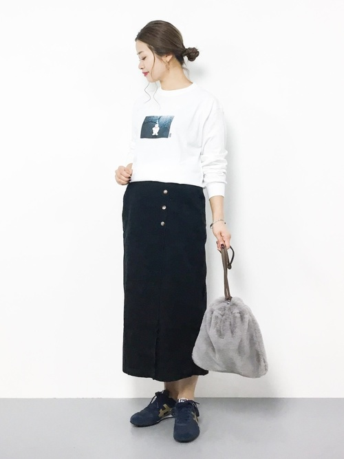 2[nano・universe] 【GINGER 12月号掲載】【sweet 9月号掲載】【MIHO NOJIRI × nano・universe】別注コーデュロイラップスカート
