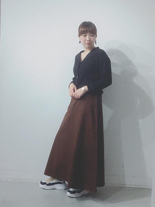 マキシスカート 秋コーデ12