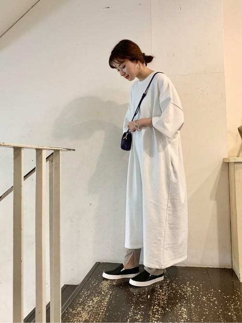 [URBAN RESEARCH] 山本マナ×URBAN RESEARCH 裏毛ワンピース