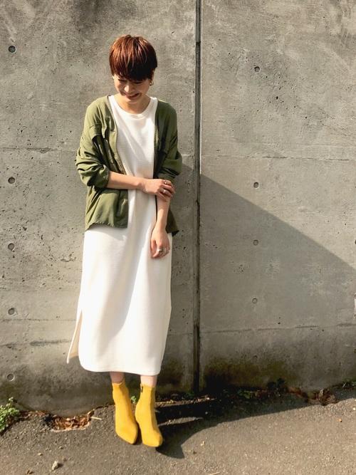 [CIAOPANIC] 【WEB限定】テンセルVカラーシャツジャケット/ミリタリーノーカラージャケット/サファリジャケット3