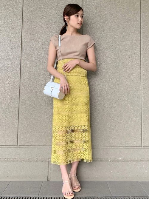 [LAGUNAMOON] カギ編みレーススカート