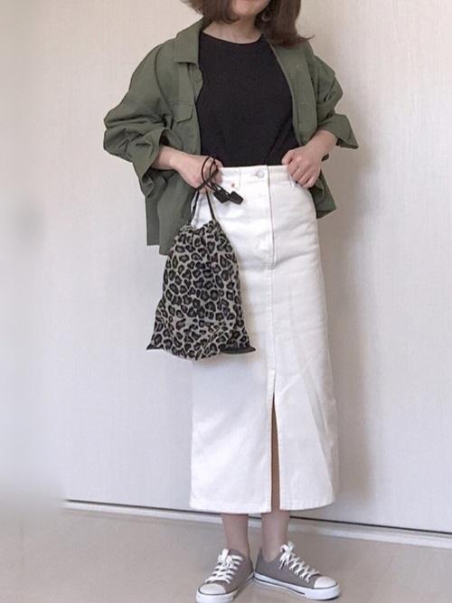 [PAGEBOY] デニムナロースカート