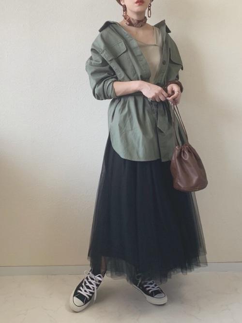 [CIAOPANIC TYPY] 甘織ツイルビッグシャツジャケット