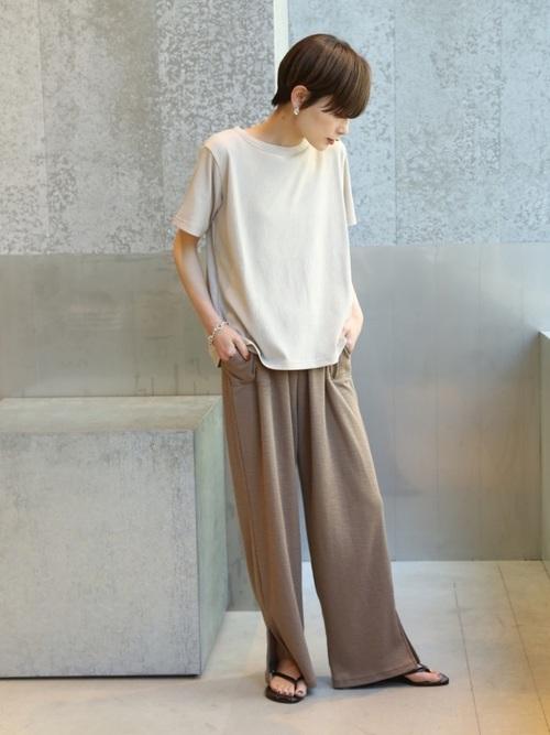 [koe] テレコ半袖Tシャツ