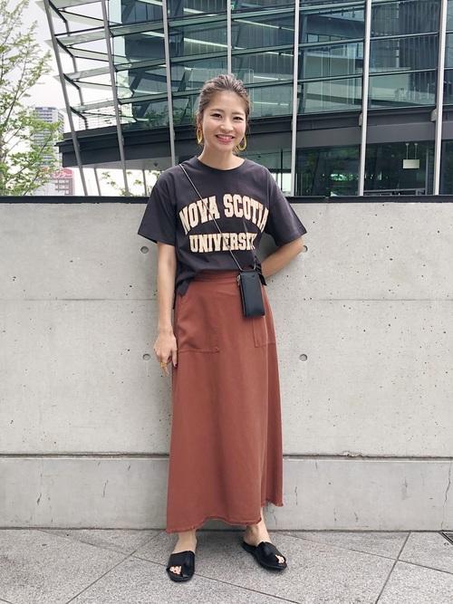 [Discoat] USAコットンカレッジロゴTシャツ
