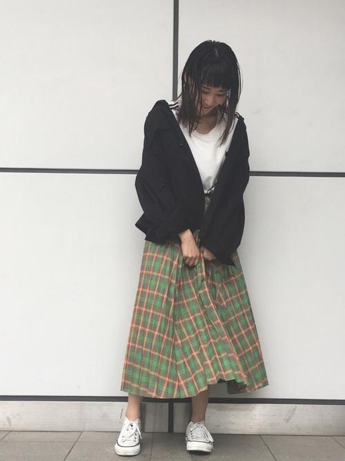 [CONVERSE TOKYO] チェックプリーツスカート
