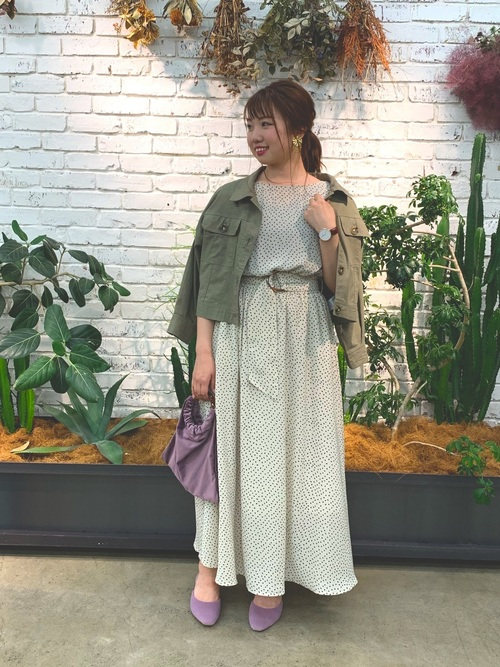 [natural couture] 綿麻ライトショートブルゾン