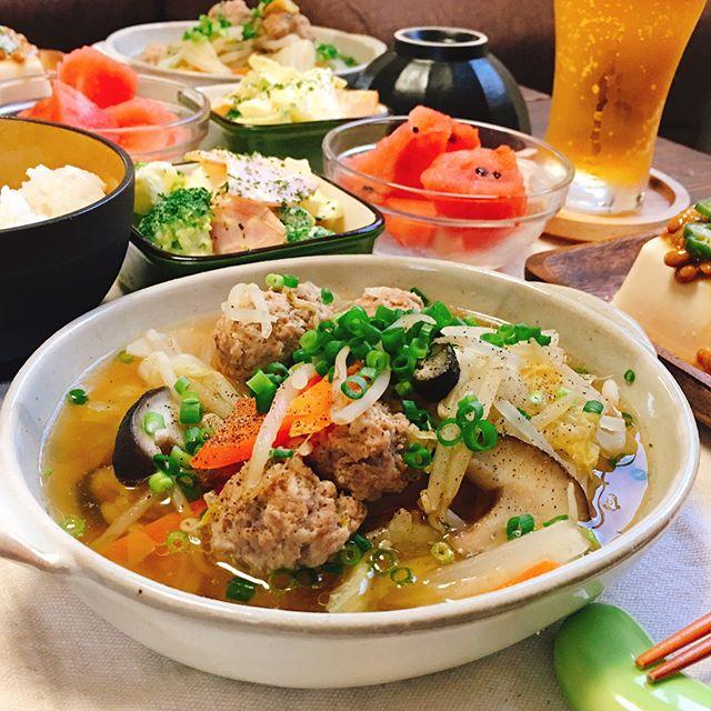 たっぷり野菜と肉団子のスープ煮