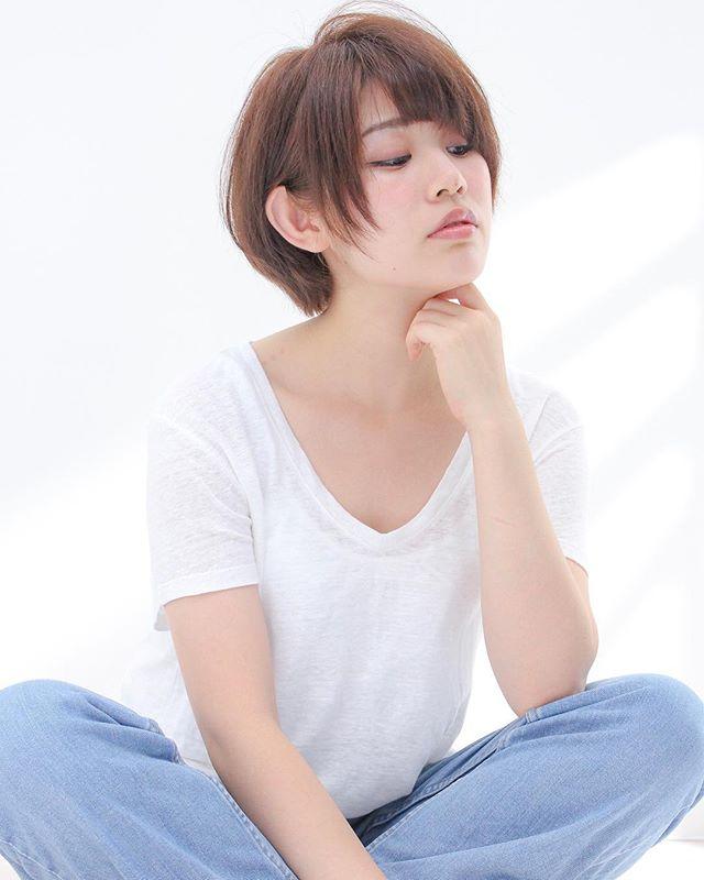 エラ張りさんに似合うショートの髪型2