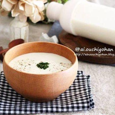 お豆腐でヘルシーなポタージュスープ
