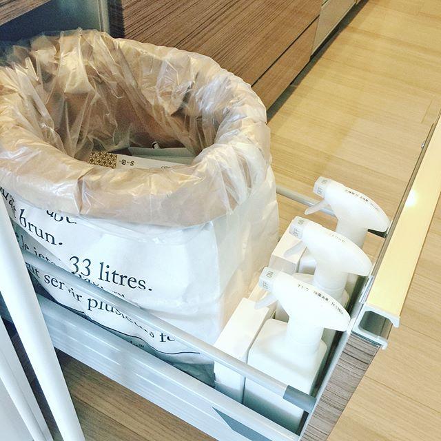 ゴミ箱をシンク下に収納する