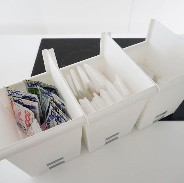 様々なアイテムを使ったレジ袋収納☆6