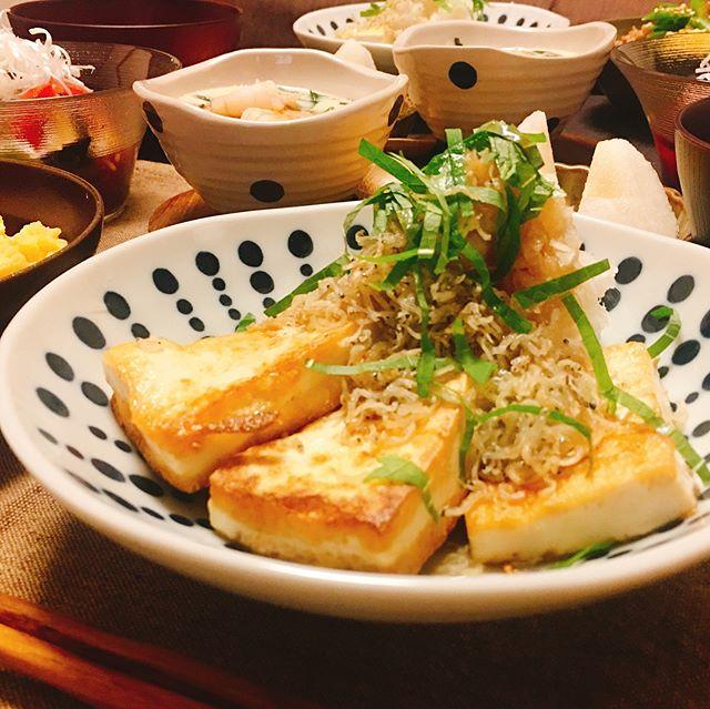 豆腐ステーキのしらすおろし