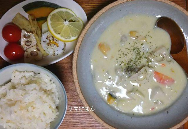 根菜の和風豆乳シチュー