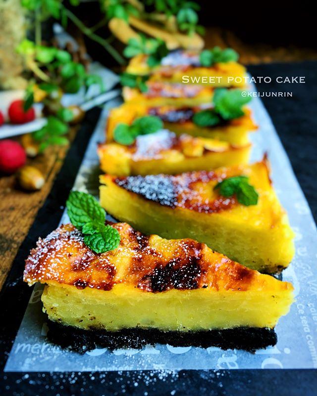 食感が楽しいスイーツ!スイートポテトケーキ