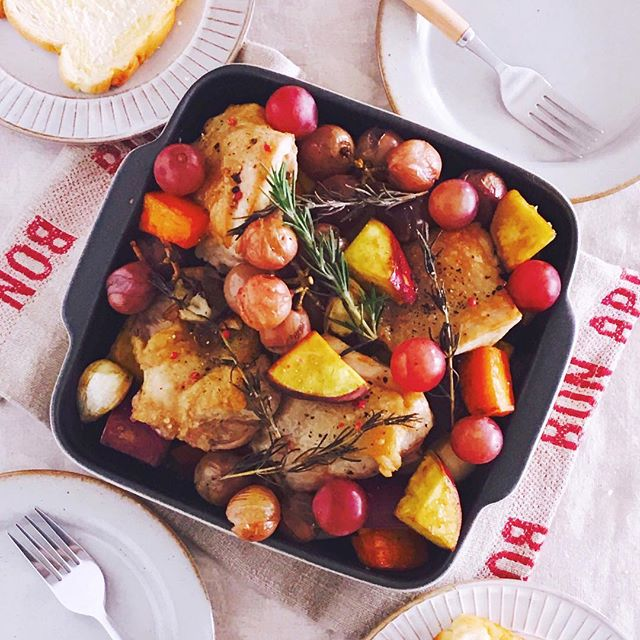 オーブンで焼くだけで簡単!鶏肉と野菜のオーブン焼き