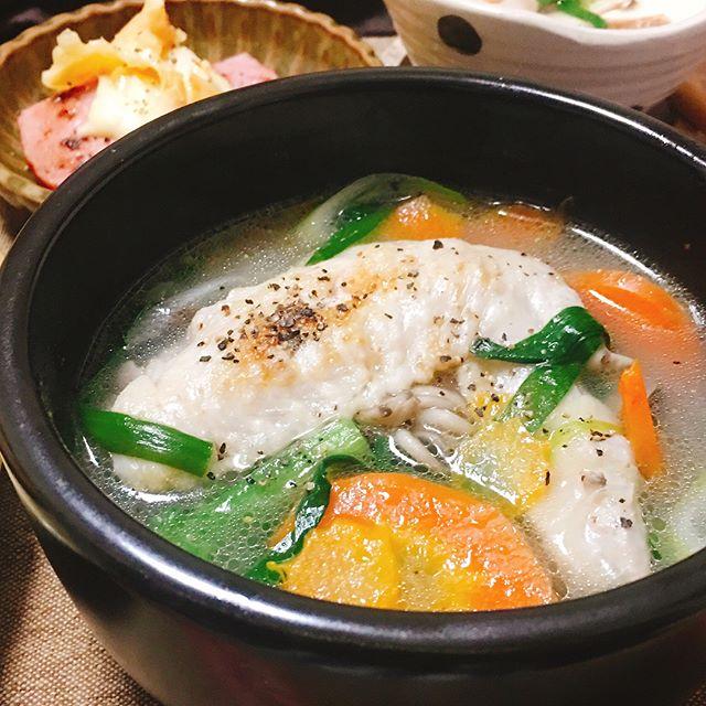 鶏手羽先のスープ