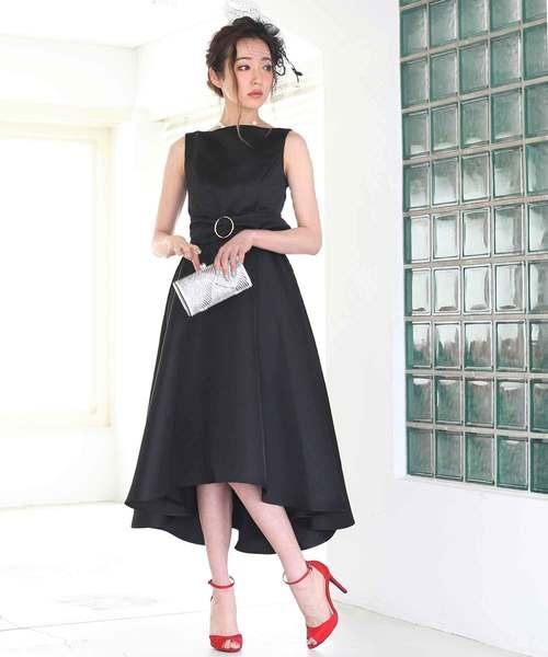 [C.R.E.A.M] ミディアムヘムスカートドレス【2点セット】結婚式 ワンピースドレス
