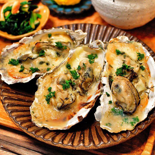 牡蠣のグラタン焼き