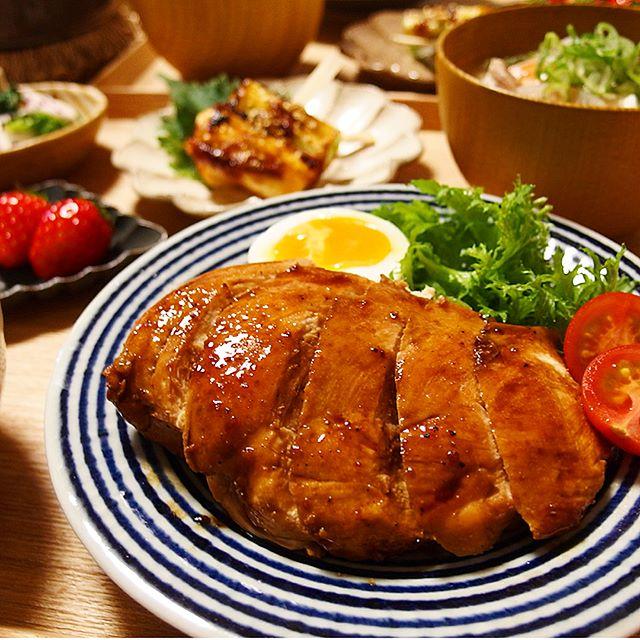 鶏むね肉のガリバタステーキ