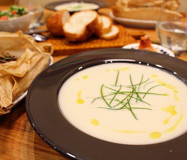 濃厚なカリフラワーのスープ