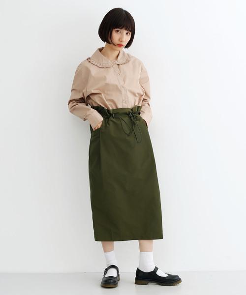[merlot] ウエストギャザードロストスカート1337