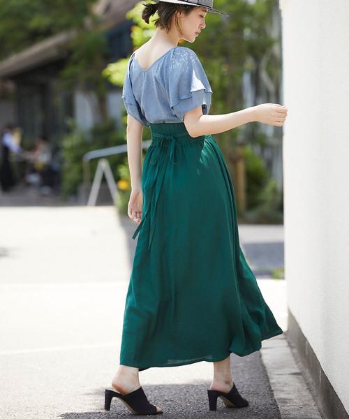 [tocco closet] ラップロングスカート