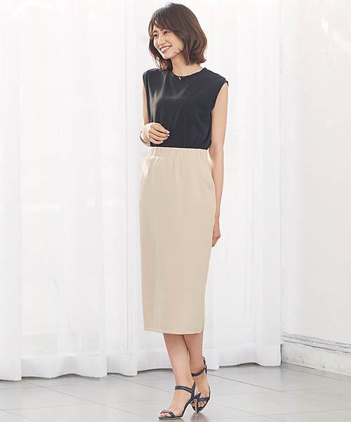 [Pierrot] ポンチタイトスカート Iラインスカート