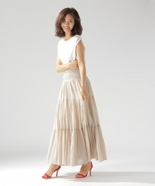 [BAYFLOW] GOOD PRICE/2WAYティアードスカート