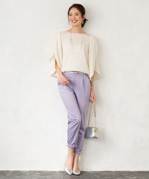 [Loungedress] 裾ねじりパンツ