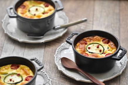 ズッキーニとトマトのオープンキッシュ