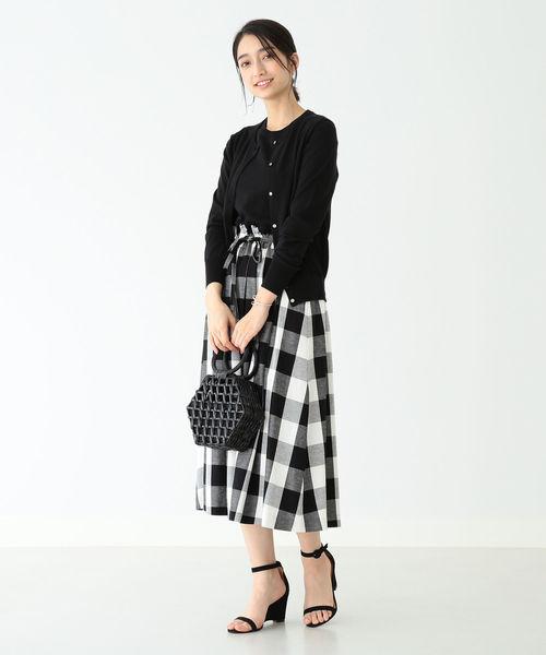 [BEAMS WOMEN] THE IRON / 別注 チェック ミディスカート