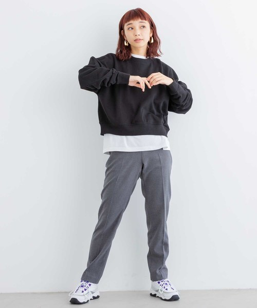 [X-girl] X-baby CROPPED CREW SWEAT TOP