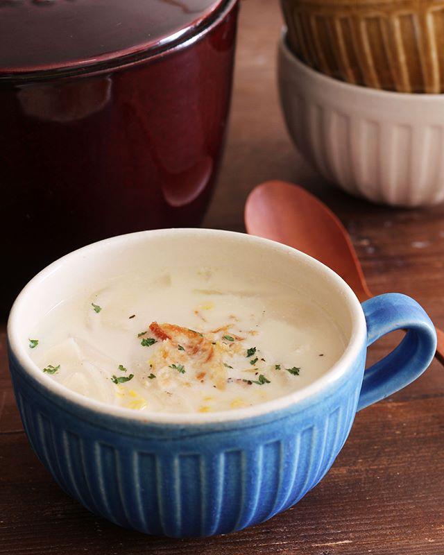 とうもろこしで作るミルクスープ