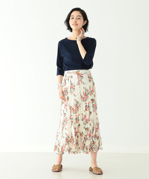 [BEAMS WOMEN] BEAMS BOY / ボーイ フラワープリント スカート