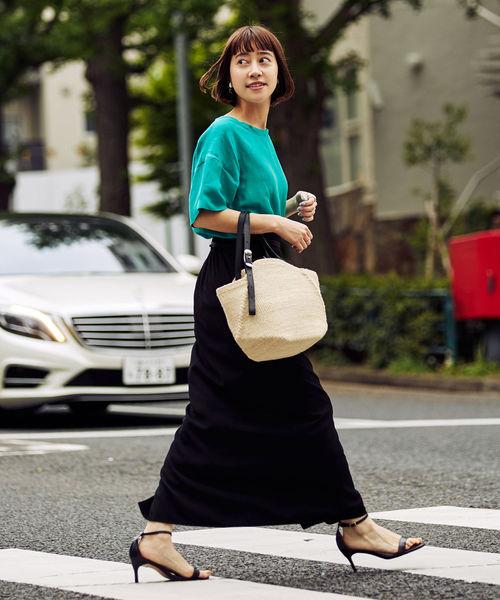 [BEAMS WOMEN] Demi-Luxe BEAMS / 楊柳 ロングスカート